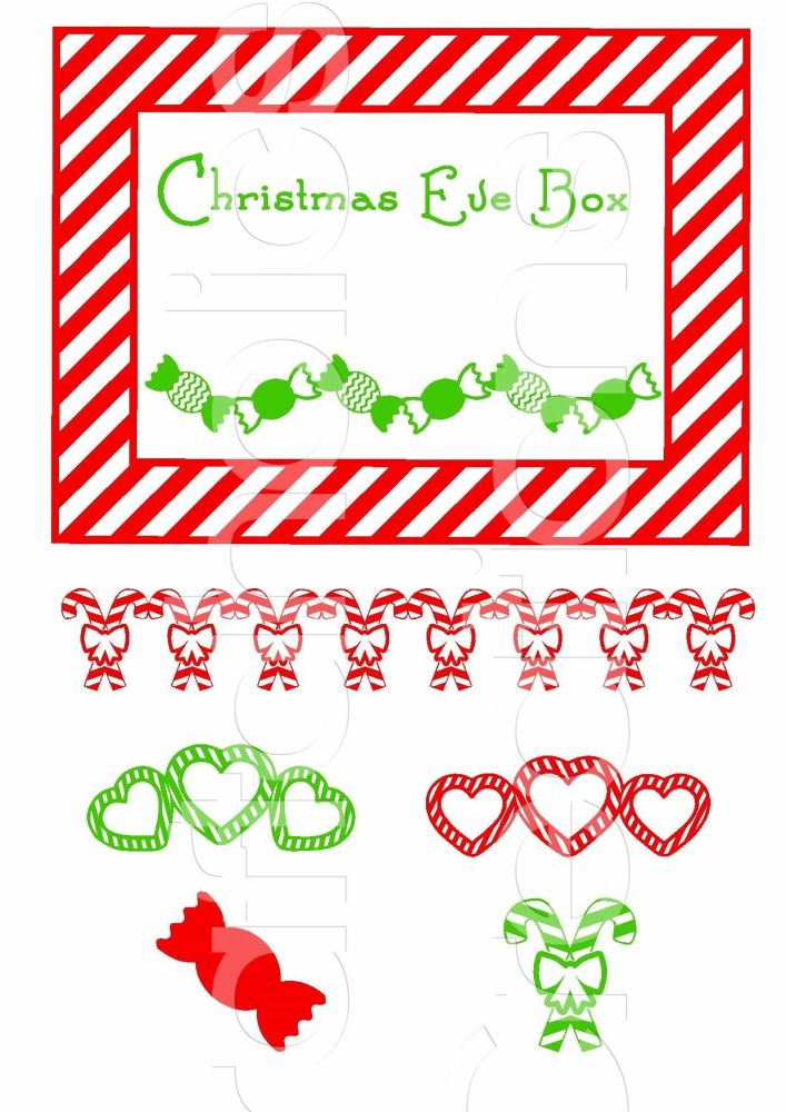 Christmas Eve Box Topper Design 7