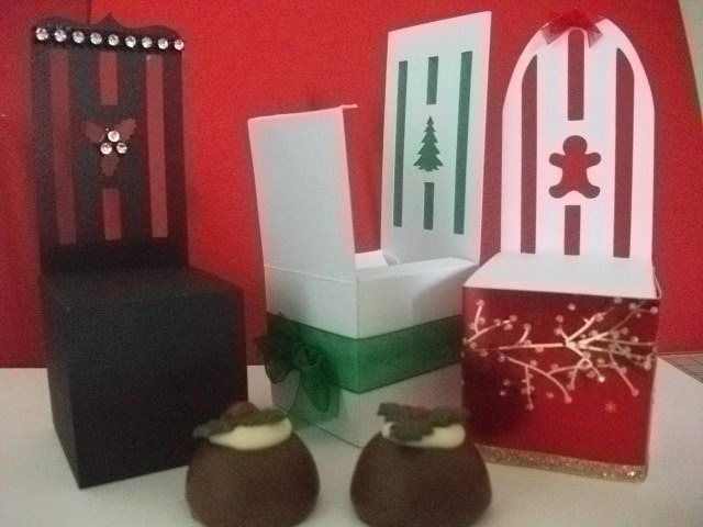 Set of 3 Favour Chair Boxes
