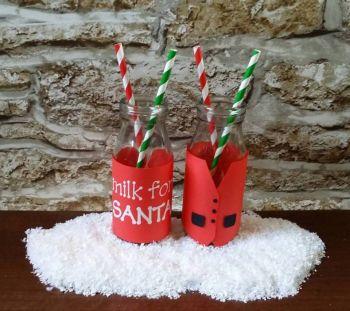 Santa's Waistcoat Milk Bottle Wrap