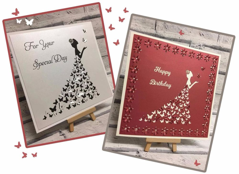 Butterfly Dress Pop Out Designs for Frames & Cards