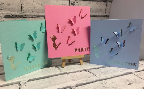 Set of 3 Butterfly Cards plus an exclusive!