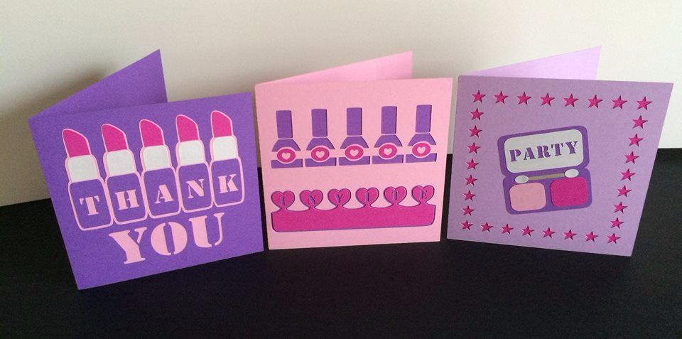 Set of 3 Girlie Fun Cards