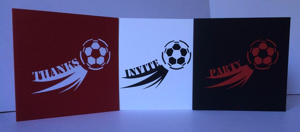 Set of 3 Football GOAL Cards