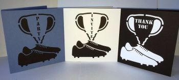 Set of 3 Football Trophy Cards