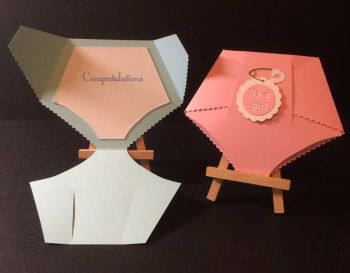 Baby Nappy Diaper Cards