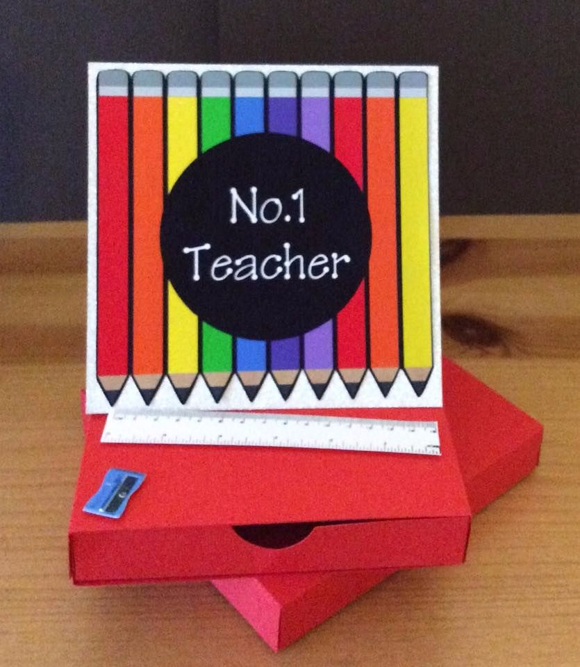 Teacher Easel Style Drawer Card with Box