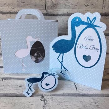 Stork Card, Bag & Tag Set