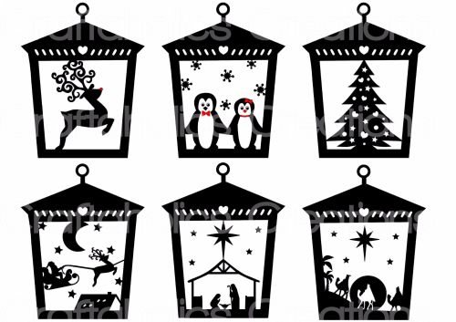 Set of 6 Designs suitable for Lantern Acrylic T-Light Stands