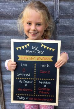 Set of 3 'First Day' Chalkboard Designs