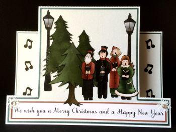 Carol Singers Centre Panel Card