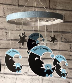 Hanging Mobile - Clear Acrylic Circular Option