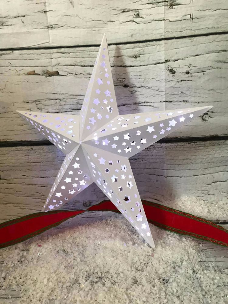 Large 3d Star with Star design