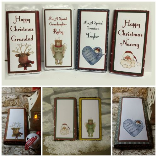 Christmas Chocolate Bar Wrappers Set 1
