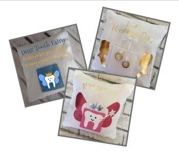 Mini Pocket Cushion - Centre Pocket White