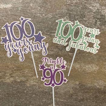 Cake Topper Designs 90 & 100