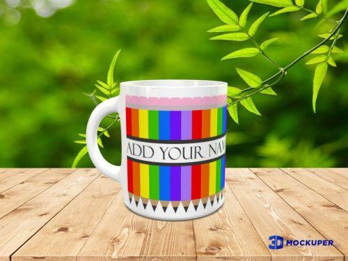 Split Pencils Design for Mug Sublimation