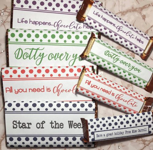 45g & 100g Polka Dot Chocolate Wrapper BOLD Collection in JPG & PDF