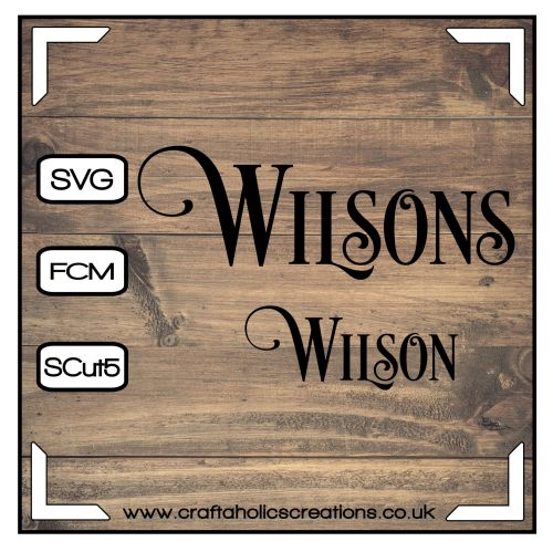 Wilson Wilsons in Desire Pro Font