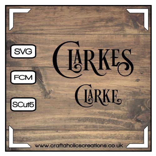 Clarke Clarkes in Desire Pro Font