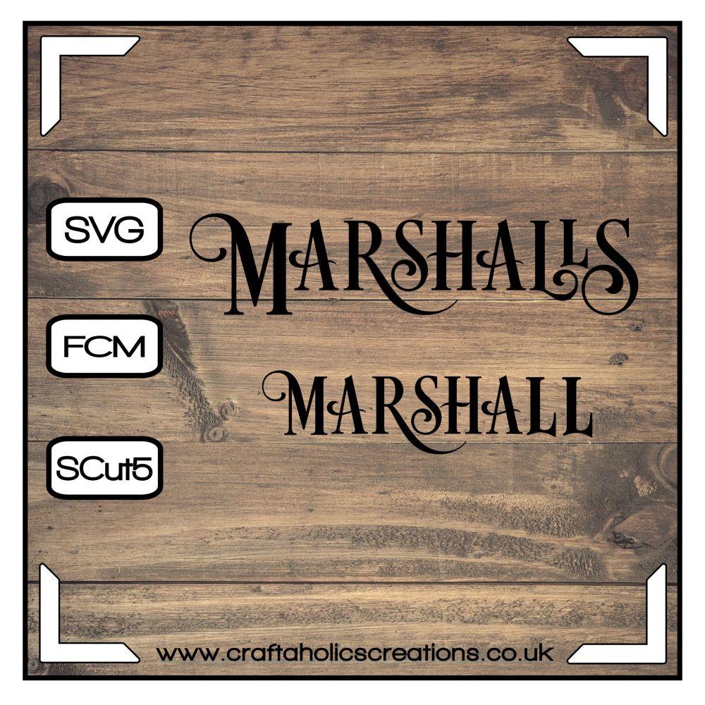 Marshall Marshalls in Desire Pro Font