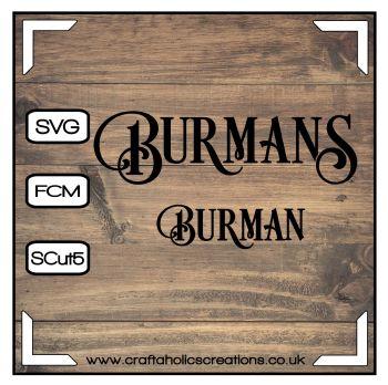 Burman Burmans in Desire Pro Font
