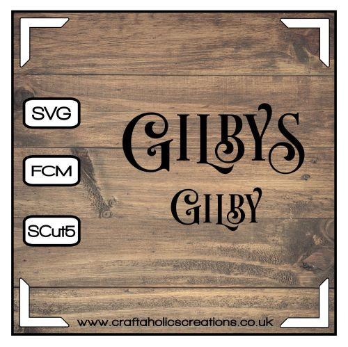 Gilby Gilbys in Desire Pro Font