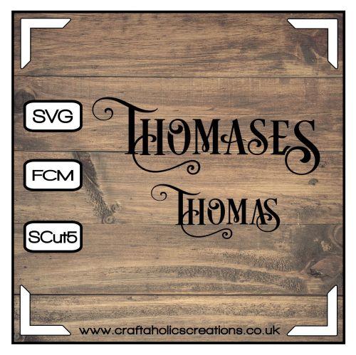 Thomas Thomases in Desire Pro Font