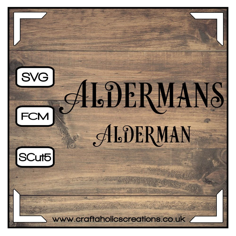 Alderman Aldermans in Desire Pro Font