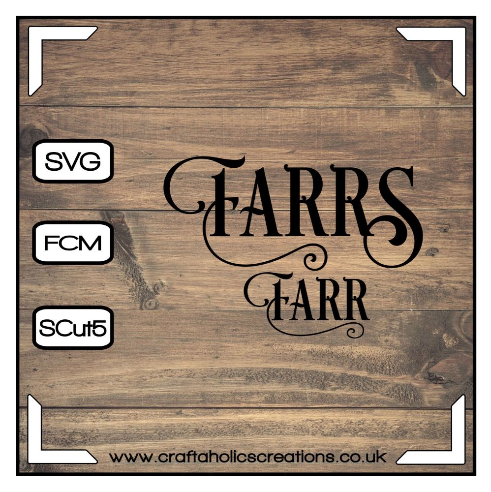 Farr Farrs in Desire Pro Font