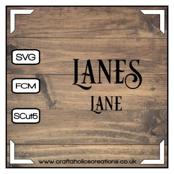 Lane Lanes in Desire Pro Font