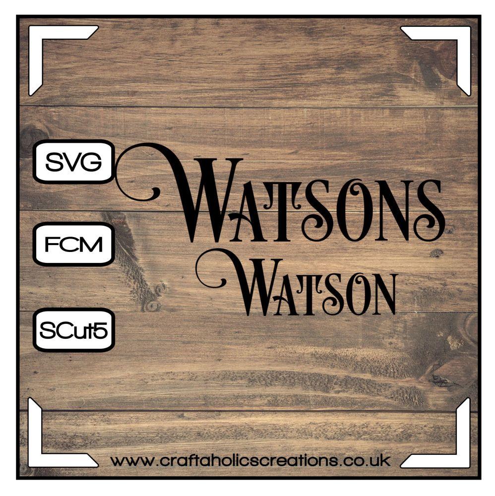 Watson Watsons in Desire Pro Font