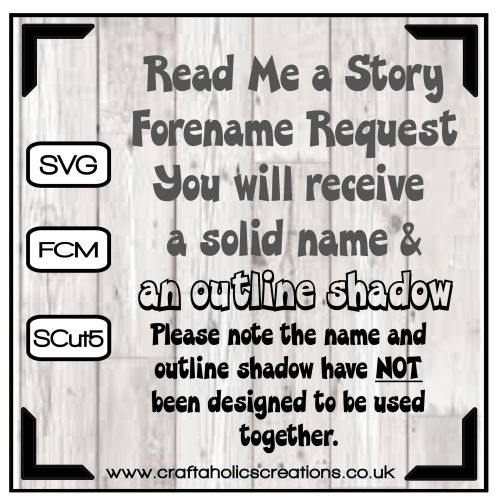 Forename Request for Read Me A Story Font