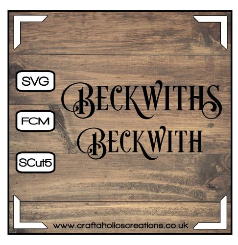 Beckwith Beckwiths in Desire Pro Font