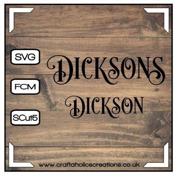 Dickson Dicksons in Desire Pro Font