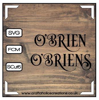 O'Brien O'Briens in Desire Pro Font