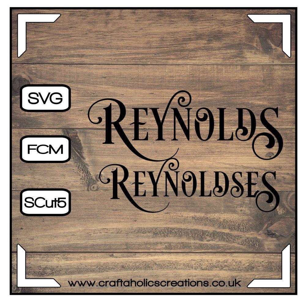Reynold Reynoldses in Desire Pro Font