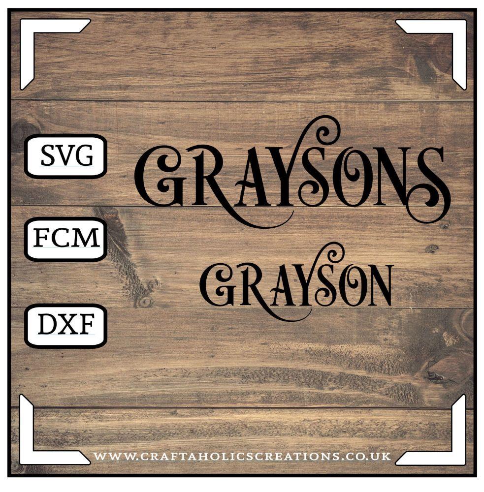 Grayson Graysons in Desire Pro Font