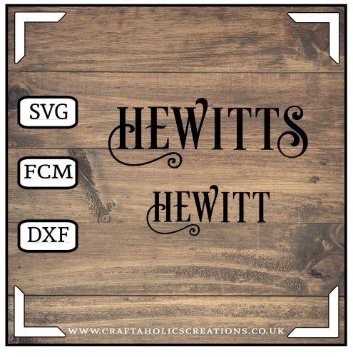 Hewitt Hewitts in Desire Pro Font