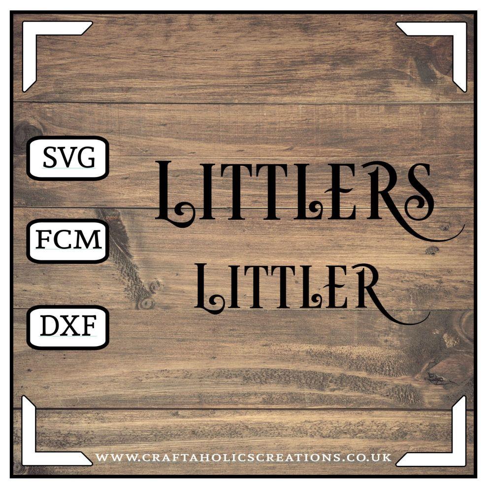 Littler Littlers in Desire Pro Font