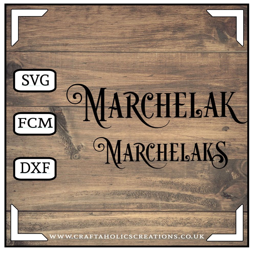 Marchelak Marchelaks in Desire Pro Font