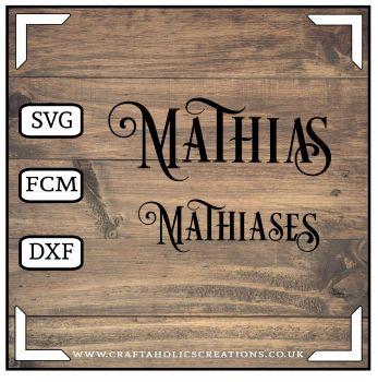 Mathias Mathiases in Desire Pro Font
