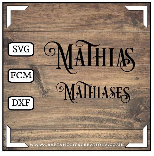 Mathias Mathiases in Desire Pro Font