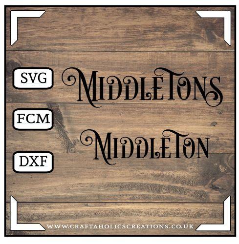 Middleton Middletons in Desire Pro Font