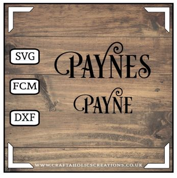 Payne Paynes in Desire Pro Font