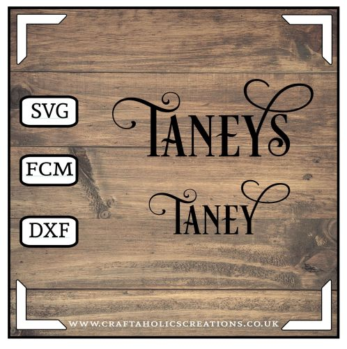 Taney Taneys in Desire Pro Font