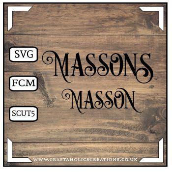 Masson Massons in Desire Pro Font