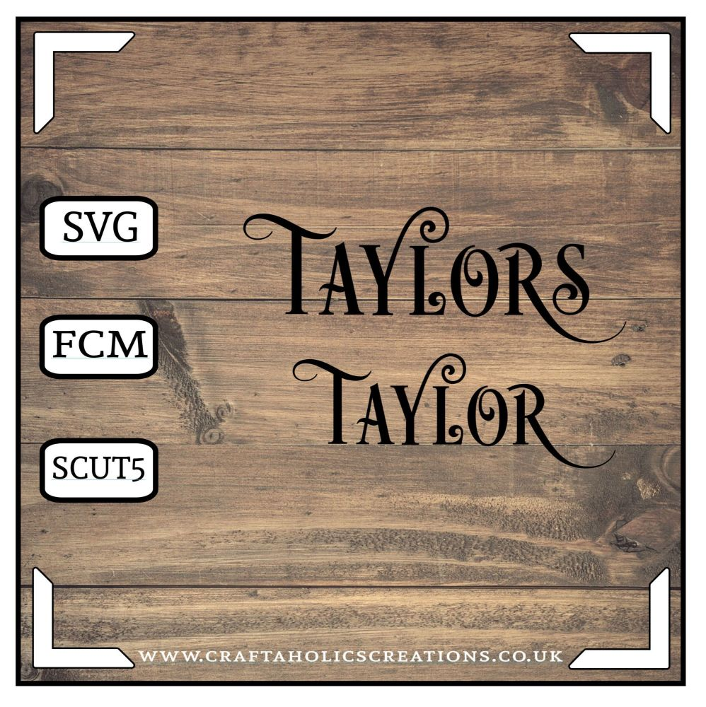 Taylor Taylors in Desire Pro Font