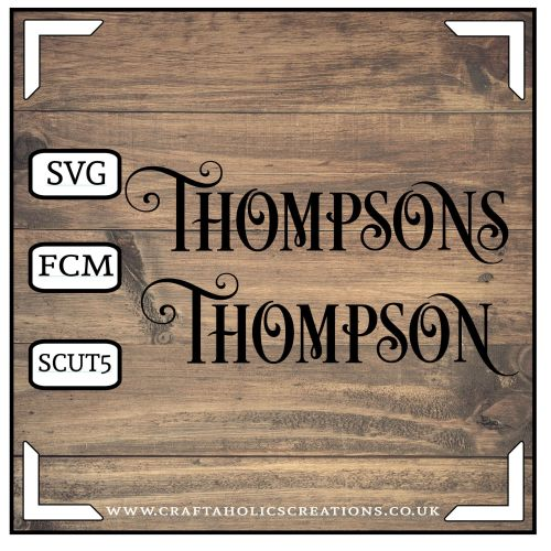 Thompson Thompsons in Desire Pro Font
