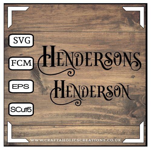 Henderson Hendersons in Desire Pro Font