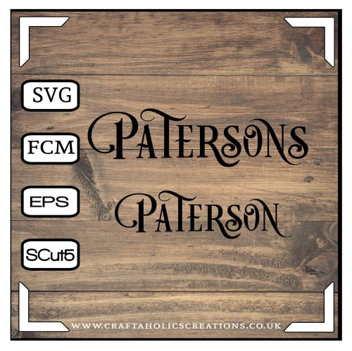 Paterson Patersons in Desire Pro Font